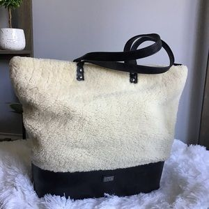 Australian Luxe Sherpa Leather Tote Bag